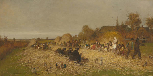 Wall Art - Painting - Husking Bee, Island Of Nantucket by Eastman Johnson