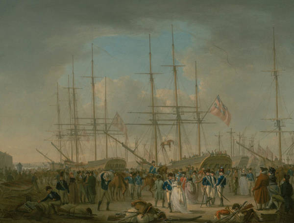 Painting - Hussars Embarking At Deptford by William Anderson