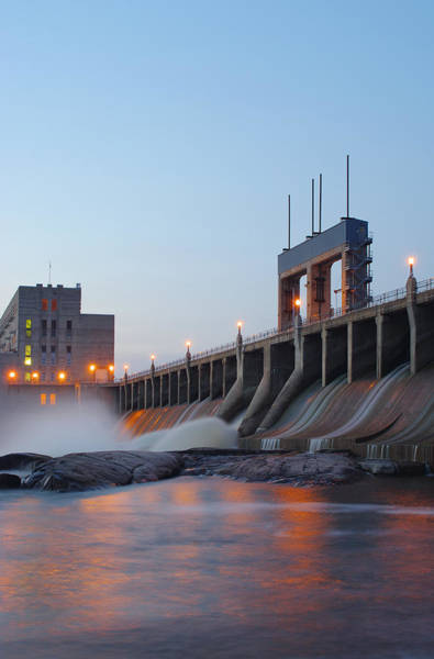 Spillway Photograph - Hydroelectric Dam by Ianchrisgraham