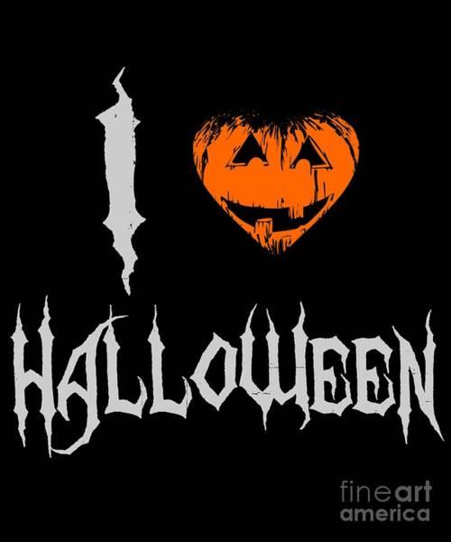 Digital Art - I Love Halloween by Flippin Sweet Gear