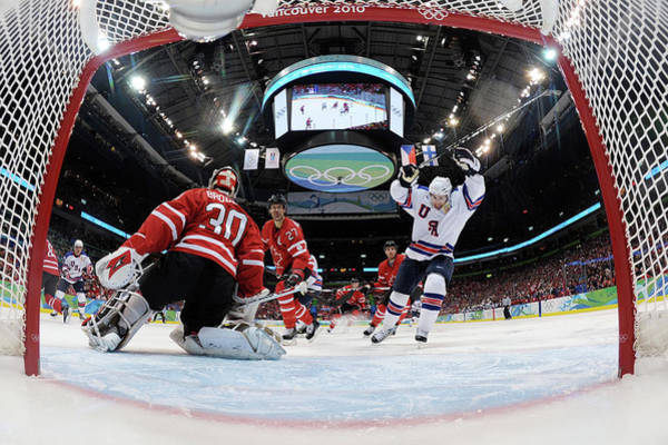 Scoring Photograph - Ice Hockey - Day 10 - Canada V Usa by Bruce Bennett