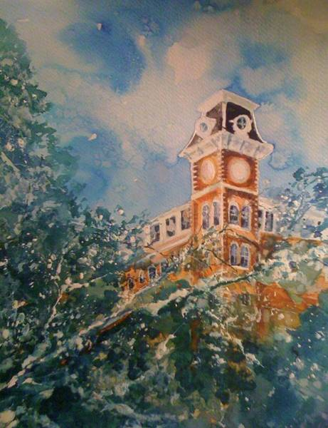 Painting - Ice On Old Main by Robin Miller-Bookhout