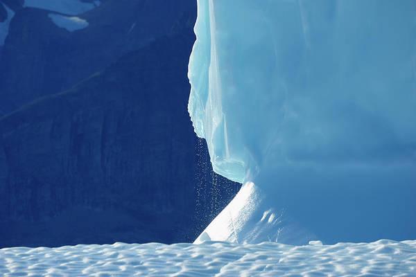 Bleached Photograph - Iceberg, Bjorn Oer, Ittoqqortoormiit by Raimund Linke