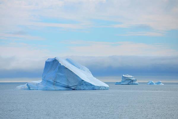 Bleached Photograph - Iceberg, Kong Oscar Fjord, Greenland by Raimund Linke