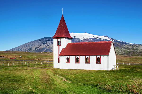 Wall Art - Photograph - Iceland, Church In Hellnar by Miva Stock