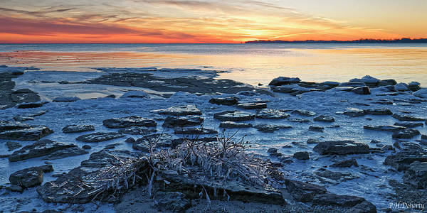 Great Lakes Region Wall Art - Photograph - Icing Up On Erie by Phill Doherty