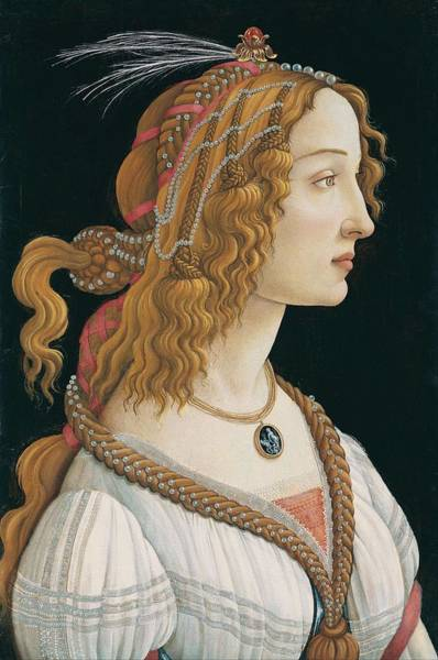 Wall Art - Painting - Portrait Of A Young Woman, Portrait Of Simonetta Vespucci As Nymph by Sandro Botticelli