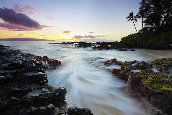 Maui Photograph - Idyllci Maui Sunset - Pacific Ocean by Wingmar