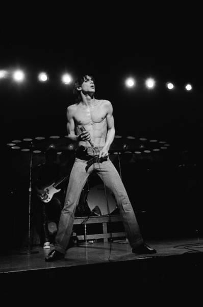 Shirtless Photograph - Iggy Pop Performs Live by Richard Mccaffrey