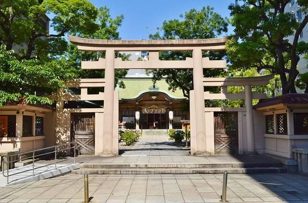 Kansai Painting - Ikasuri-jinja, Torii - Ikasuri Zama Shrine, Chuo, Osaka, Japan by Celestial Images