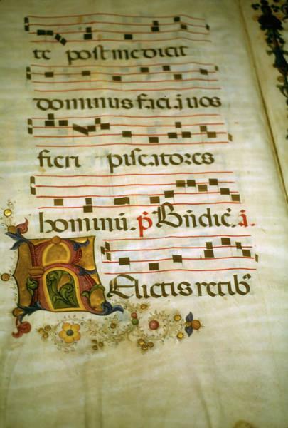 Photograph - Illuminated Manuscript, In Medieval Library by Steve Estvanik
