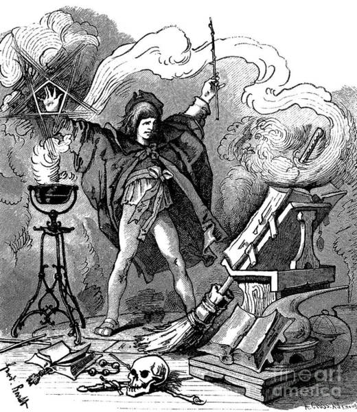 Wall Art - Drawing - Illustration Of Der Zauberlehrling by Ferdinand Barth