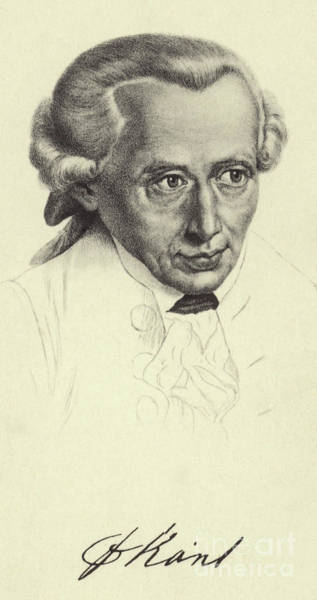 Wall Art - Drawing - Immanuel Kant, 1724-1804, German Philosopher And Writer by German School