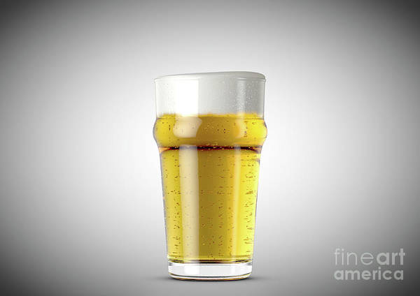 Frosty Digital Art - Imperial Pint Beer by Allan Swart