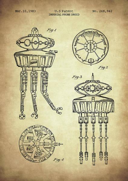 Digital Art - Imperial Probe Droid by Zapista Zapista