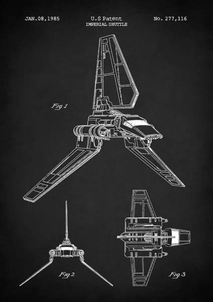 Digital Art - Imperial Shuttle by Zapista Zapista