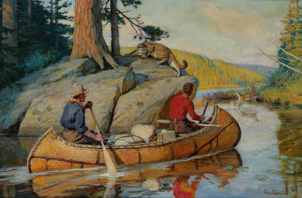 Wall Art - Painting - In The Canoe by Philip R Goodwin