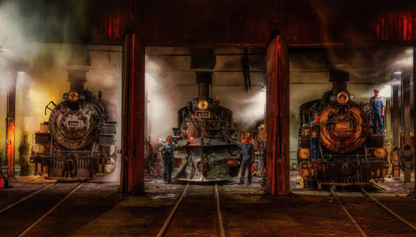 Roundhouse Photograph - In The Roundhouse by Mountain Dreams