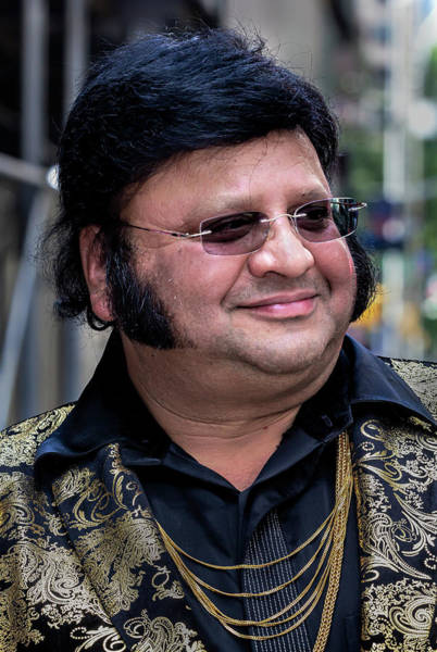 Photograph - India Day Nyc 8_18_2019 Indian Elvis Impersonator by Robert Ullmann