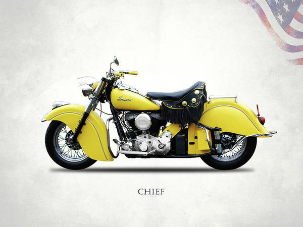 1951 Photograph - Indian Chief 1951 by Mark Rogan