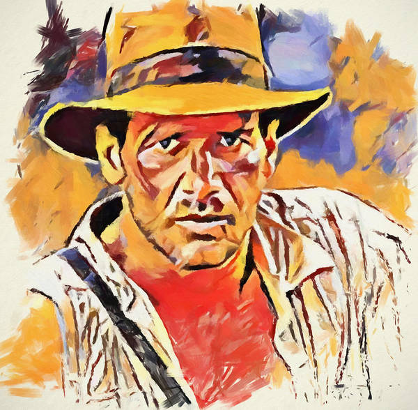 Wall Art - Painting - Indiana Jones by Dan Sproul