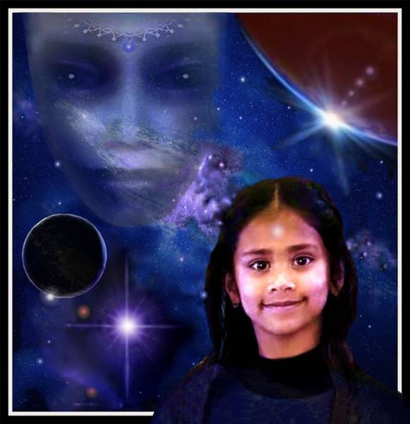 Digital Art - Indigo  Child  by Hartmut Jager