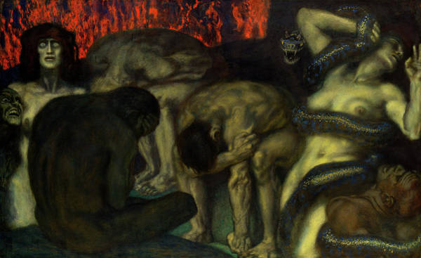 Wall Art - Painting - Inferno by Franz von Stuck