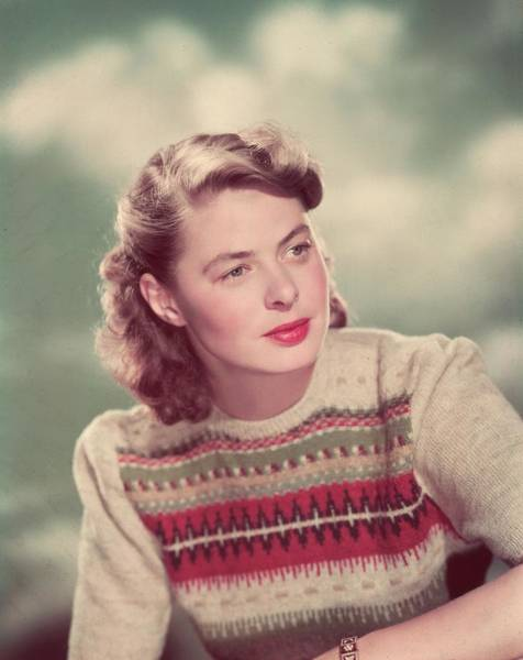 Sweater Photograph - Ingrid Bergman by Hulton Archive