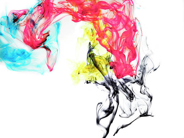 Mixing Photograph - Ink In Cmyk Colors by Jonathan Knowles