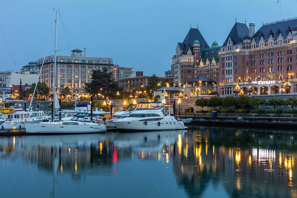 Wall Art - Photograph - Inner Harbor In Victoria, British by Chuck Haney