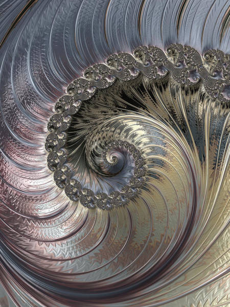 Digital Art - Inside A Seashell by Erika Fawcett