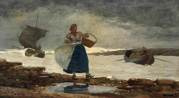 Wall Art - Painting - Inside The Bar, 1883 by Winslow Homer