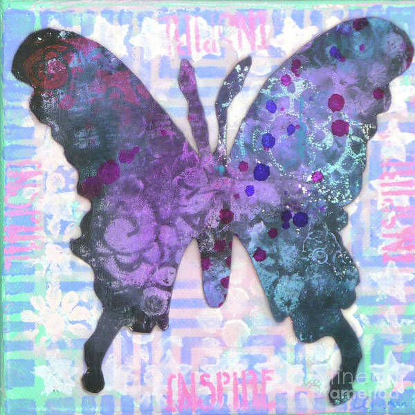 Mixed Media - Inspire Butterfly by Lisa Crisman