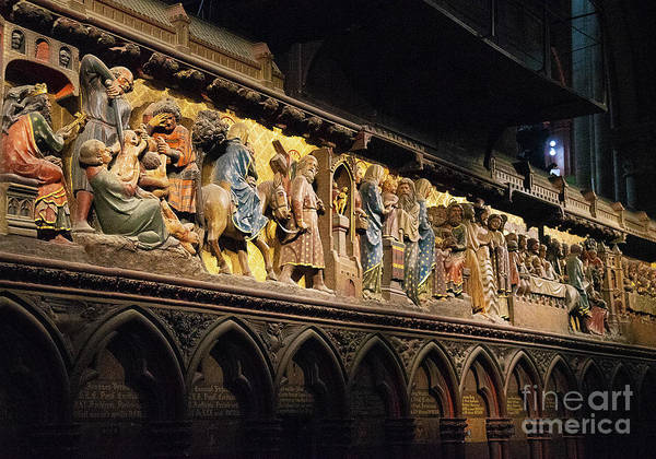 Wall Art - Photograph - Interior Details Cathedrale Notre Dame De Paris France Before Fire by Wayne Moran