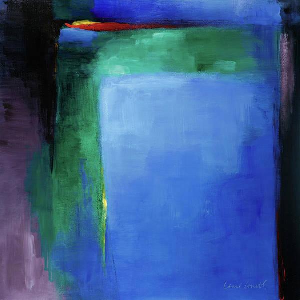 Wall Art - Painting - Into Blue I by Lanie Loreth