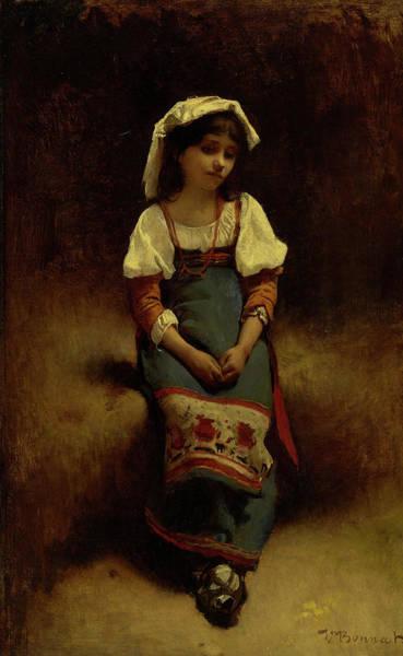 Yule Painting - Italian Woman by Leon Bonnat