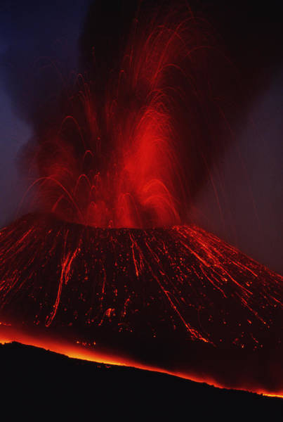 Sicily Photograph - Italy, Sicily, Mount Etna, Summit Vent by Art Wolfe