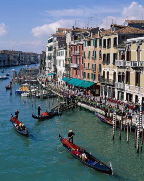 Rowboat Photograph - Italy, Veneto, Venice, Grand Canal by Eurasia Press