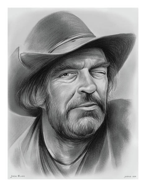 Wall Art - Drawing - Jack Elam by Greg Joens