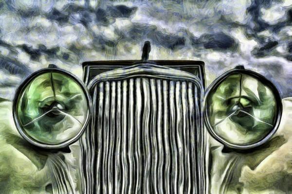Wall Art - Photograph -  Jaguar Car Van Gogh  by David Pyatt