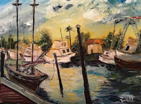 Wall Art - Painting - Jeannes Harbor by Roxy Rich