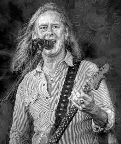 Wall Art - Mixed Media - Jerry Cantrell by Mal Bray
