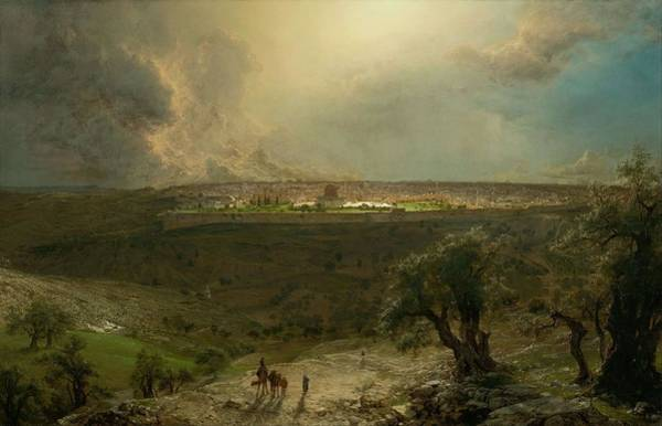 Wall Art - Painting - Jerusalem From The Mount Of Olives by Frederic Edwin Church
