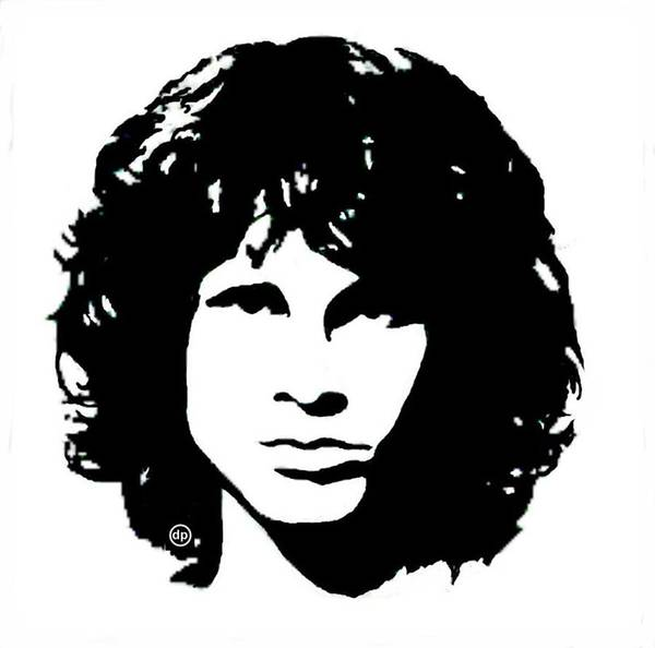 Wall Art - Digital Art - Jim Morrison by Digital Painting
