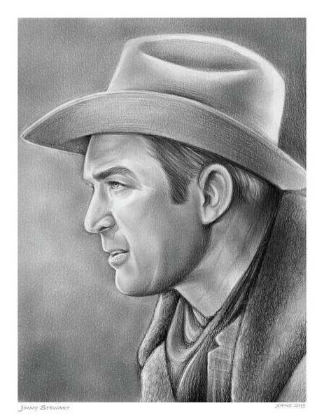 Wall Art - Drawing - Jimmy Stewart by Greg Joens