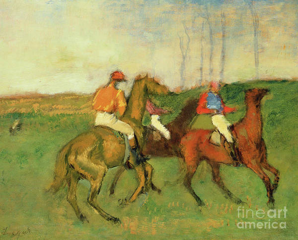 Wall Art - Painting - Jockeys And Race Horses by Edgar Degas