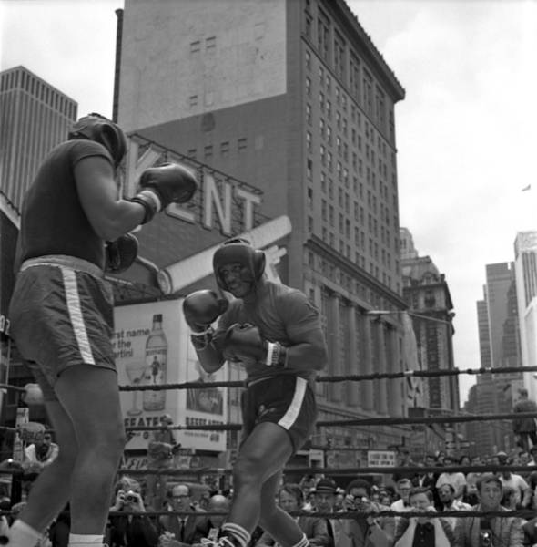 Boxing Photograph - Joe Frazier Sparring Session by Donaldson Collection