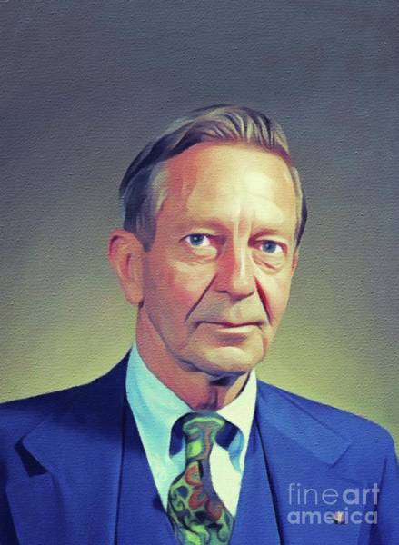 Wall Art - Painting - John Cheever, Literary Legend by John Springfield