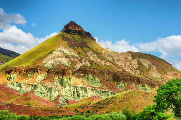 Photograph - John Day Fossil Beds Sheep Rock Unit Landscape by Dee Browning