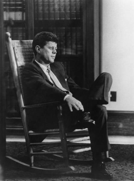 Rocking Chair Wall Art - Photograph - John F Kennedy by Keystone